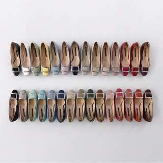 sappun-[SAPPUN BASIC] 에셀런 스퀘어 플랫슈즈 (2cm)♡韓國女裝鞋