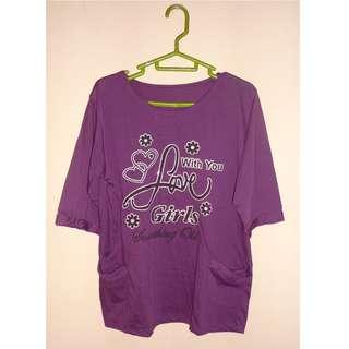 Kaos Wanita warna ungu
