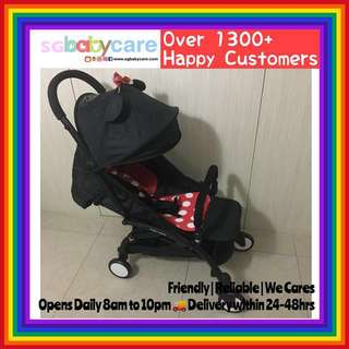 FREE DELIVERY Compact Lightweight Travel Stroller - Minnie