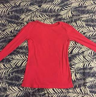 GAP bright pink 3/4 Sleeve Shirt