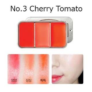 Brand New SKINFOOD Fresh Fruit Lip & Cheek Trio (#3 Cherry Tomato)