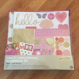 Over 1000 pieces scrapbook kit