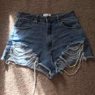 High waist Abrand shorts