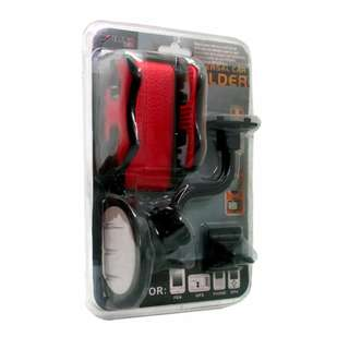 Universal Car Holder Y-1254 (Black/Red)
