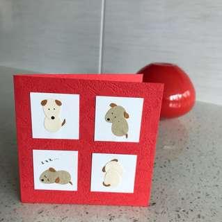 "Handmade mini card ""Cute Little Dogs"""