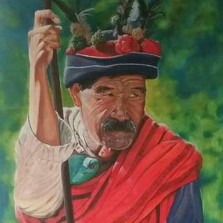 Oil painting ' Lakay '
