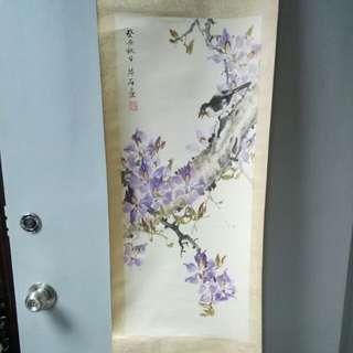 片石画 - 癸丑(1973 / 1913?) 花鳥掛画