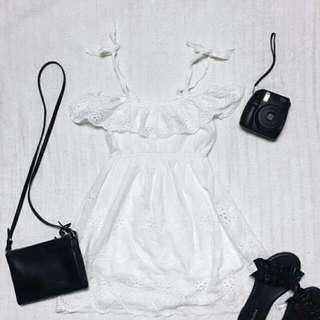 Eyelet Offshoulder Dress