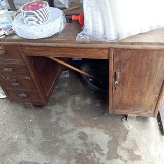 meja jati kayu jati lama