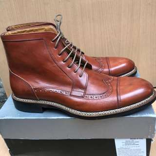 Sepatu boots mario cuomo sole verro cuoio
