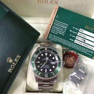 Rolex 16610LV Submariner 50週年紀念版 綠圈黑底