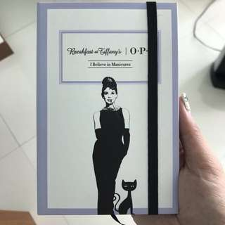 Breakfast At Tiffany's Audrey Hepburn OPI Notebook