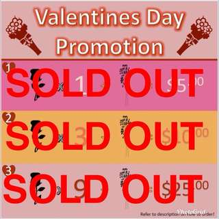 V DAY FLOWERS SOLD OUT