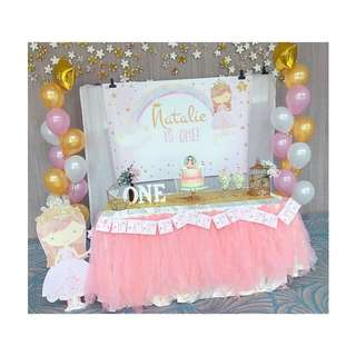 {FOR RENT} Princess Cake Cutting Table for birthday and baby shower