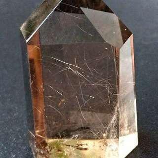 茶晶 銀髮 水晶