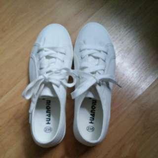🌸白色帆布鞋🌸