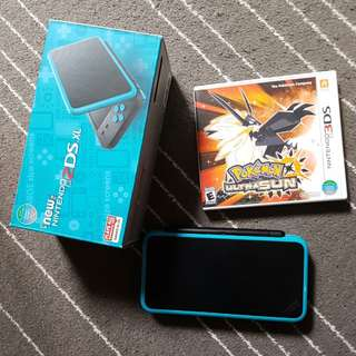 NEW nintendo 2DS XL bundle with pokemon ultra sun game