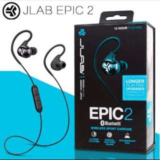 JLAB Epic 2 Bluetooth 4.0 Sports Earpiece