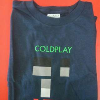 Kaos band Coldplay Original Official Merchandise