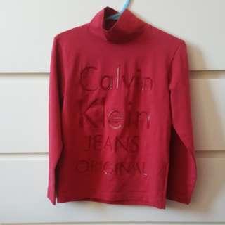 Calvin Klein Kids Turtle Neck Pullover 兒童樽領衫