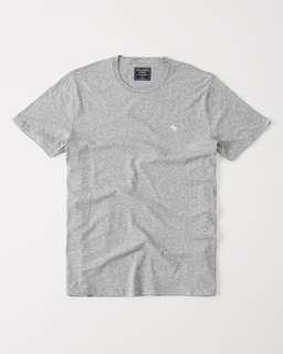 ($32) Abercrombie & Fitch Icon Crew Tee (Grey)