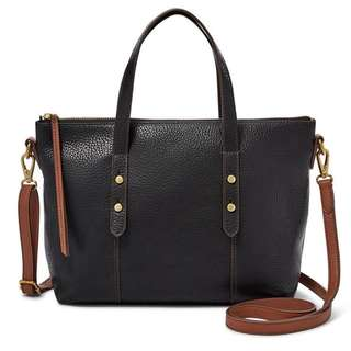 Fossil Jenna satchel in black