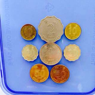 Coins collectibles: Lot of 8x Hong Kong SAR coins