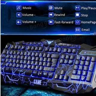 v100 backlight gaming keyboard mouse combo Super Xblaster (Only Tri color black left, Crack Black no more)