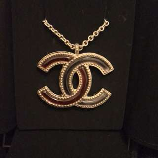 Chanel big logo necklace
