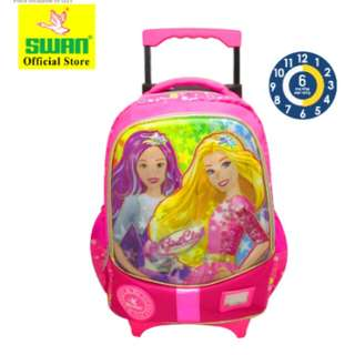 Swan 5D cartoon roll school bag (L)