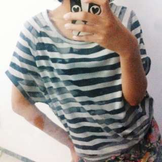 stripe tshirt / stripes tshirt / kaus garis