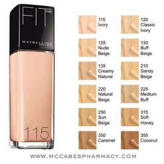 Maybelline Fit Me - Dewy Smooth Foundation SPF 18 30 ml