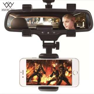 Car Phone Holder Car Rearview Mirror Mount Phone Holder 360 Degrees Universal For iPhone Samsung GPS Smartphone Stand