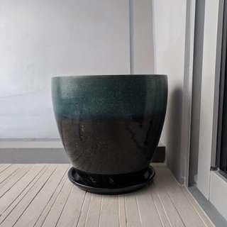 Plant pot / vase - large dual tone colour
