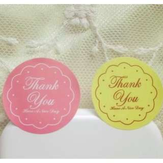 BNIP 120Pcs 2018 New Arrival Thank You 2 Colors Handmade Sealing/Label Kraft Stickers!
