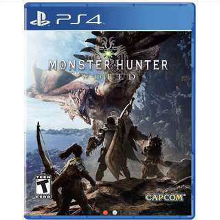 BNIB Monster Hunter World PS4