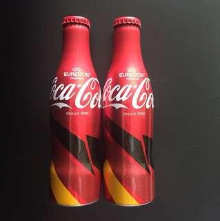 Coca Cola euro 2016 collectible aluminium bottles