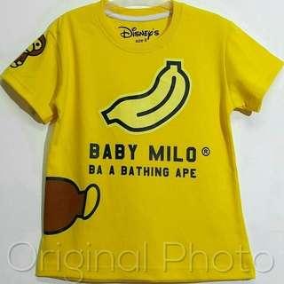 Kaos baby milo anak cowok