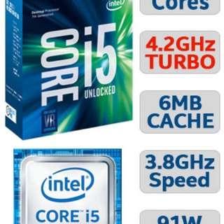 Intel i5 7600K. Z270 Asus Tuf Mark 2. Corsair h45 hydro