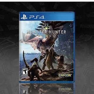 PS4 Monster Hunter WORLD (restock)