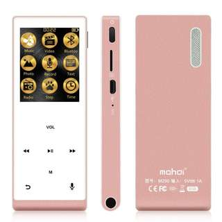 (BNIB) MAHDI 8GB Bluetooth Music Player / Recorder with Hi-Fi Sound & External Speaker - Rose Gold (Brand New Boxed)