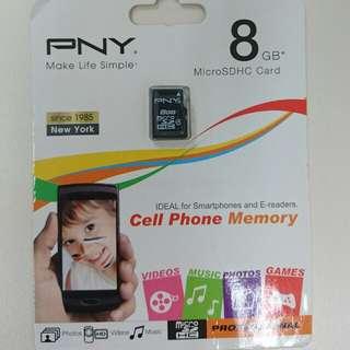 PNY 8GB MicroSDHC Card SD咭