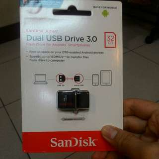 New SANDISK ULTRA Dual USB Drive 3.0 (32GB)