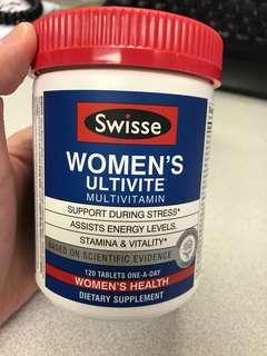 Swisse women's ultivite multivitamin 女性多元維他命 維生素 120粒