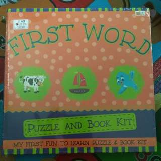 First word puzzle book