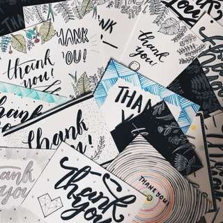 calligraphy cards🎢 (customizable!)