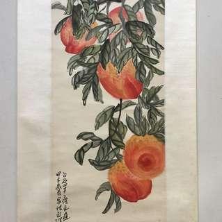 画家齐良迟102x33cm  Chinese painting