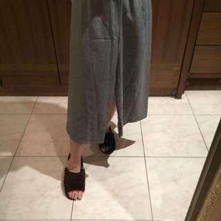 灰色 寬褲