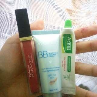 PAKET Purbasari HI-MATTE LIP CREAM, BB Cream Wardah & Acnes Sealing Jell