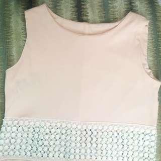 Sleeveless Nude-pink Top